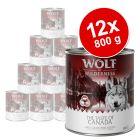 """Korzystny pakiet Wolf of Wilderness """"The Taste Of"""", 12 x 800 g"""