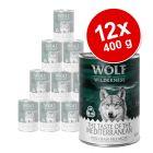 """Korzystny pakiet Wolf of Wilderness """"The Taste Of"""", 12 x 400 g"""