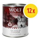"""Korzystny zestaw Wolf of Wilderness """"The Taste Of"""", 12 x 800 g"""