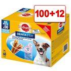 112 kpl Pedigree Dentastix: 100 + 12 kpl kaupan päälle!