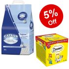 20l Catsan Cat Litter + Dreamies Cat Treats - 5% Off!*