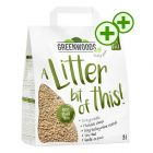 8l Greenwoods Plant Fibre Natural Clumping Litter - Triple zooPoints!*