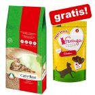 40 l Cat's Best Original Katzenstreu + 35 g Feringa Meat Snacks gratis!