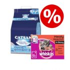 18l Catsan Cat Litter + 48 x 100g Whiskas Kitten - Junior Starter Kit!*