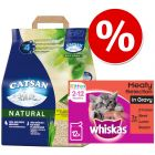 20l Catsan Litter + 48 x 100g Whiskas Kitten Pouches - Bundle Price!*