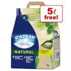 20l Catsan Natural Cat Litter - 15l + 5l Free!*