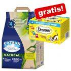 20 l Catsan Natural + Dreamies Selection Box på köpet!