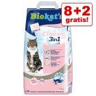 8 + 2 l gratis! 10 l Biokat's Classic 3in1 kattegrus