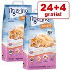 24 + 4 l gratis! 28 l Tigerino Nuggies kattegrus