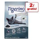 2 L gratis! 12 L Tigerino Special Care Kattegrus
