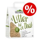 8l Greenwoods Plant Fibre Natural Clumping Litter - Special Price!*