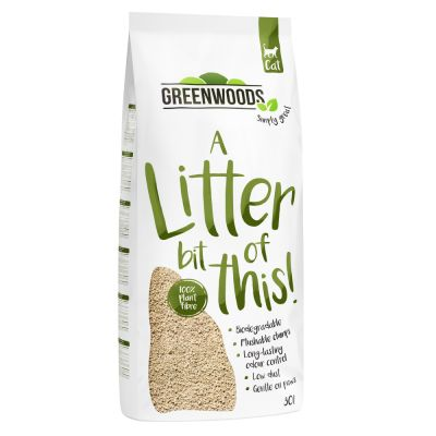 30l Greenwoods Plant Fibre Natural Clumping Litter - Special Price!*