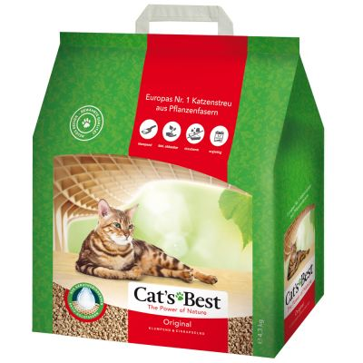40 l + 5 l gratis! Cat's Best Eco Plus Kattenbakvulling