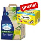 20 l Lettiera Catsan Natural  + 4 x 30g Catisfactions Selection Box gratis!