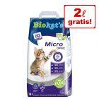 12 + 2 l  på köpet! 14 l Biokat's Micro kattströ