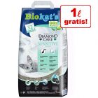 5 + 1 l zdarma! 6 l Biokat's Diamond Care Sensitive Classic kočkolit