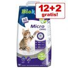 12 +2 l zdarma! 14 l Biokat's Micro kočkolit