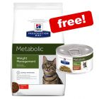 Large Bags Hill's Prescription Diet Dry Cat Food + 8 x 82g Stew Free!*