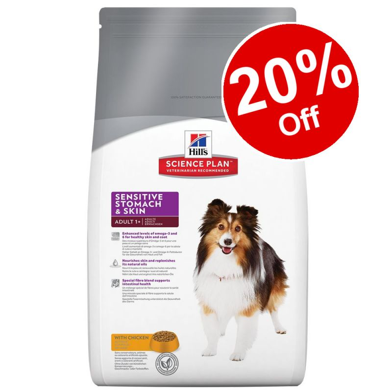Large Bags Hill's Science Plan Dry Dog Food - 20% Off!*
