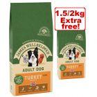 Large Bags James Wellbeloved Dry Dog Food + 1.5kg/2kg Extra Free!*