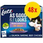 """Latz """"Så lækkert som det ser ud"""" Senior portionspose 48 x 85 g"""