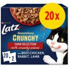 "Latz ""Sensations Crunchy"" Pouches 20 x 85 g + 80 g päällinen"