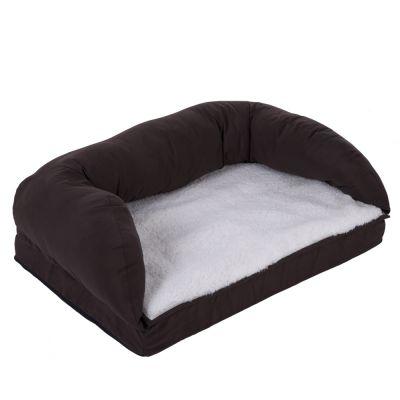 perfetto e comodo divano letto per cani Senior Letto per cani ortopedico marrone e beige memory foam