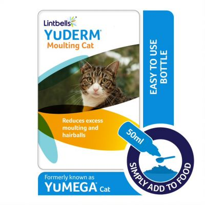 Lintbells YuDERM Moulting Cat Supplement