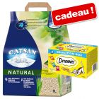 Litière Catsan Natural + friandises Catisfactions offertes !