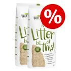 Litière agglomérante Greenwoods en fibres végétales 2 x 30 L à prix mini !