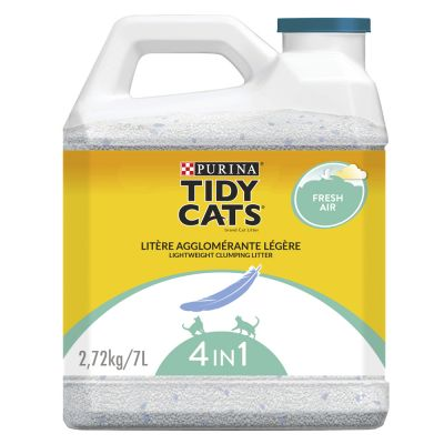 Litière agglomérante PURINA Tidy Cats Lightweight 4 en 1 Fresh Air pour chat