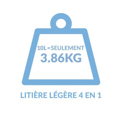 Litière agglomérante PURINA Tidy Cats Lightweight 4 en 1 Ocean Freshness pour chat