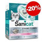 Litière agglomérante Sanicat Strong Clumps pour chat : - 20 % de remise !