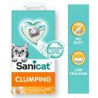 Litière agglomérante Sanicat vanille, mandarine pour chat