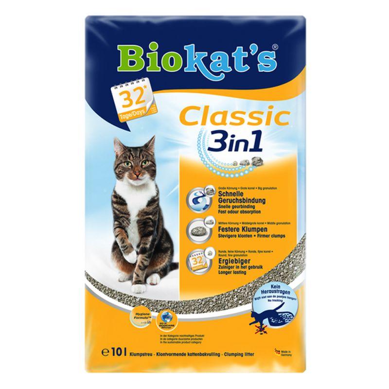 Litière Biokat's Classic 3in1 pour chat, sans parfum