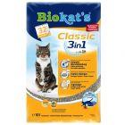 Litière Biokat's Classic 3in1, sans parfum