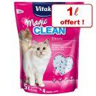 Litière de silice Vitakraft Magic Clean 4 L + 1 L offert !