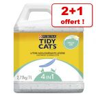 Litière PURINA Tidy Cats Lightweight 2 x 7 / 10 L + 1 sac offert !