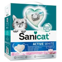 Litière Sanicat Active White Lotus Flower pour chat