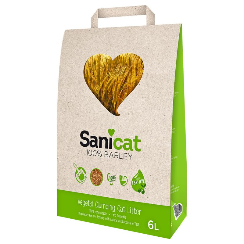 Litière Sanicat Barley pour chat
