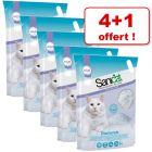 Litière Sanicat Diamonds 5 L pour chat : 4 sacs + 1 offert !