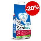 Litière Sanicat pour chat : 20 % de remise !