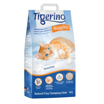 Litière Tigerino Nuggies Ultra Sensitive (sans parfum) pour chat