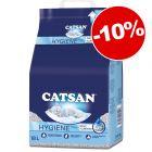 Litières Catsan pour chat : 10 % de remise !