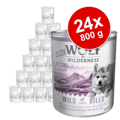 Little Wolf of Wilderness 24 x 800 g - Pack económico