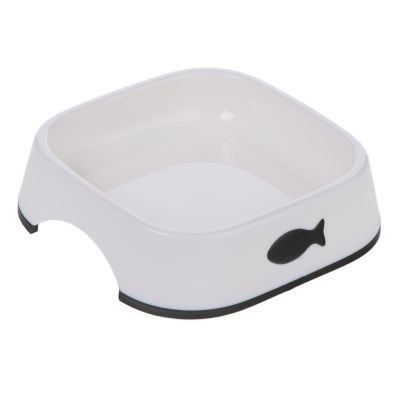 Little Fish Plastic Cat Bowls - Set of 2