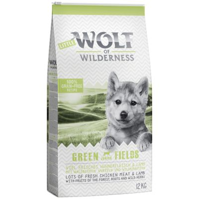 Little Wolf of Wilderness Junior Green Fields con cordero
