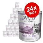 Экономупаковка Little Wolf of Wilderness 24 x 800 г