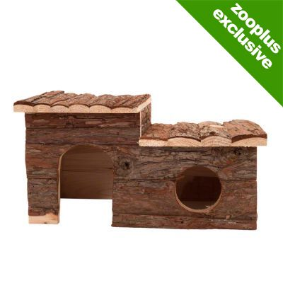 Log Cabin with Roof Terrace for Small Pets