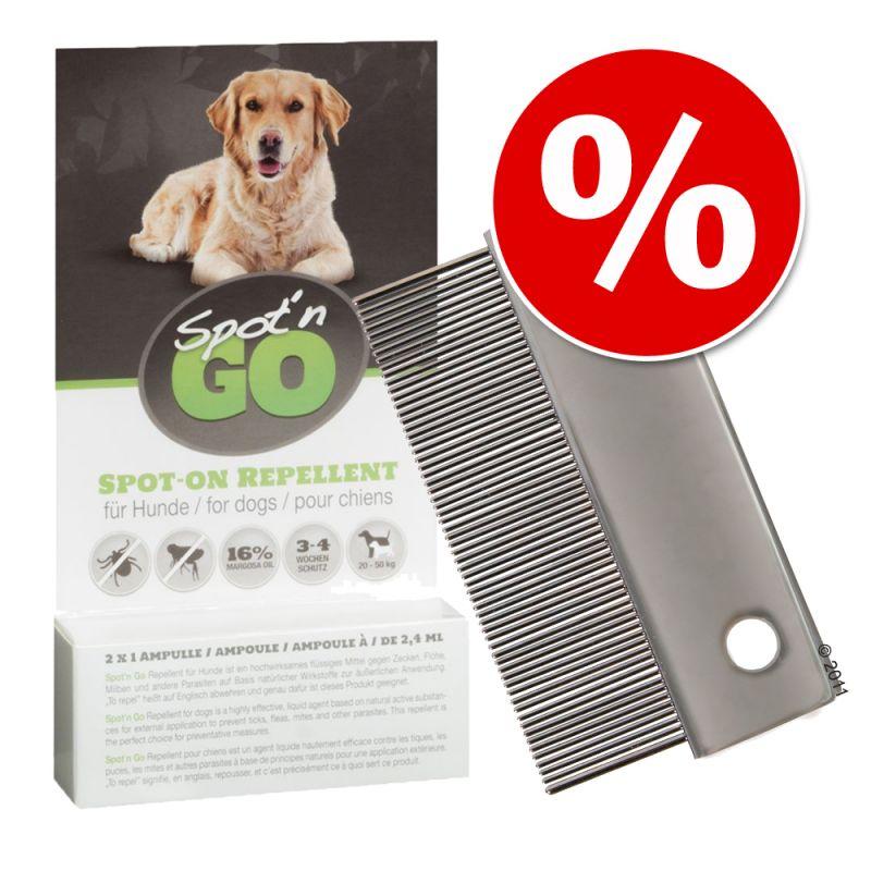 Loppe- & støvkam 6 cm + Spot´n Go Repellent til særpris!